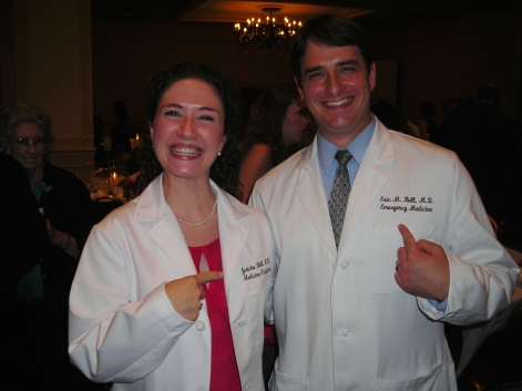 Dr. Bell and her husband Eric at their white coat ceremony