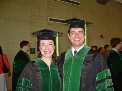 Dr. Bell and her husband Eric at UMMC School of Medicine graduation