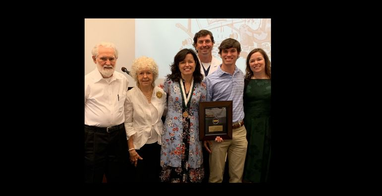 Dr Harkins award with family